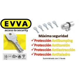 Bombín EVVA 3KS PLUS Alta Seguridad 5 Llaves con Pomo (Perfil Suizo para Arcu)