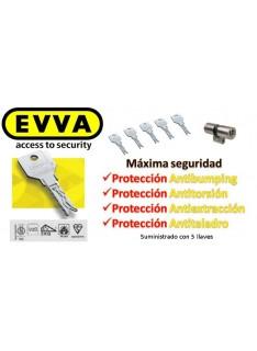 Bombín  EVVA 3KS PLUS Alta Seguridad 5 Llaves con Pomo (Perfil Suizo para Ezcurra SEA 23)
