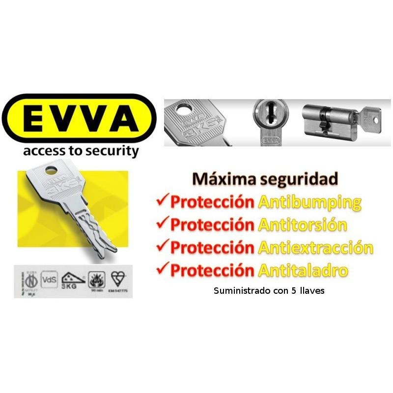 Bomb n antibumping evva 3ks plus 5 llaves sin pomo for Bombines de alta seguridad