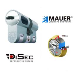 Kit Escudo Protector Blindado Alta Seguridad con Alarma DISEC BD280LED-ROK dB+SIM + Bombin Antibumping MAUER NW5