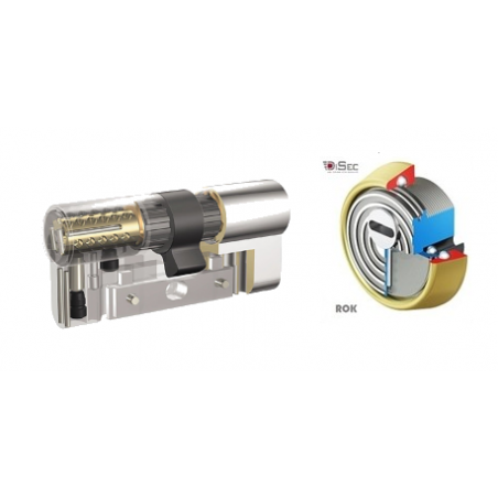 Kit Escudo Protector Disec BD280 Rok + Bombín Antibumping KABA Expert Plus Extreme Protection System - 5 llaves