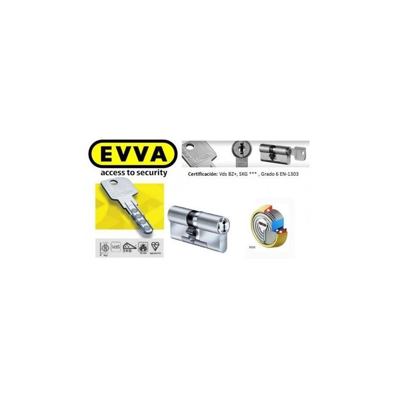 Kit Escudo Protector Alta Seguridad Disec B280 Serie ROK + Bombín EVVA MCS Alta Seguridad Magnético 5 Llaves - Sin Pomo