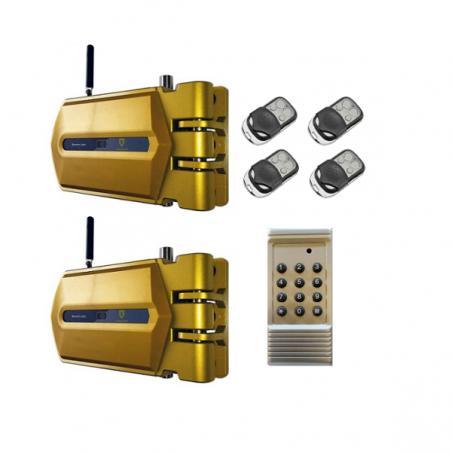 Kit 2 Cerraduras Goldenshield + 4 mandos + 1 mando generador de códigos