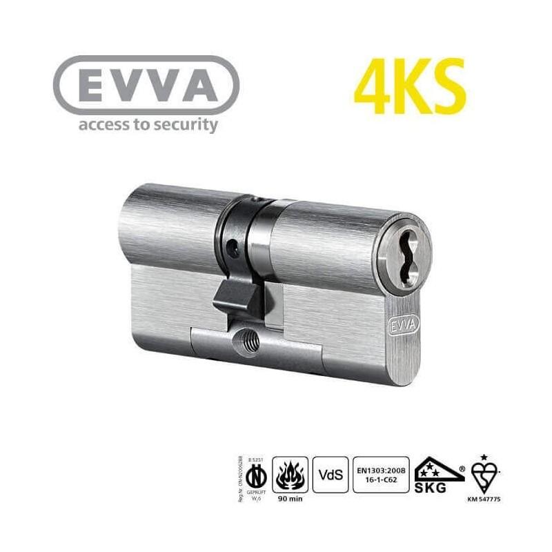 Bombín Antibumping EVVA 4KS Alta Seguridad 5 Llaves (Perfil Europeo)