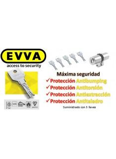 Bombín  EVVA 4KS PLUS Alta Seguridad 5 Llaves con Pomo (Perfil Suizo para Arcu)