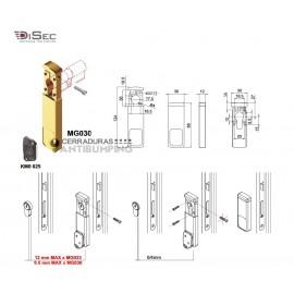 Escudo protector magneticoMG 30 DISEC (Perfil estrecho 30 mm. sin tornilleria pasante)