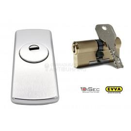 Kit Escudo Protector Disec LG280EZC + Bombín Antibumping EVVA 4KS PLUS Alta Seguridad