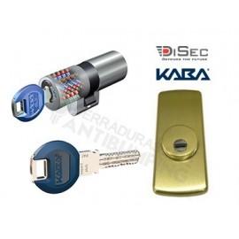 Kit Escudo Protector Disec LG280ARC + Bombín KABA Expert Plus (Perfil Suizo Arcu)