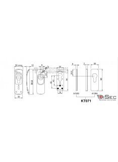 DISEC Serie SG77  - Escudo de Alta Seguridad para perfil estrecho