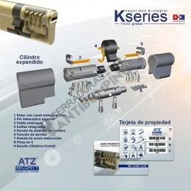 K SERIES de ATZ SECURITY - Bombín de Alta Seguridad Antibumping