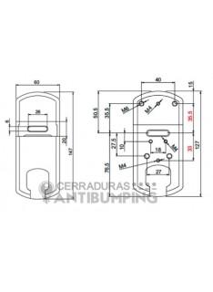 Escudo protector magnético cerradura gorja, MG210ARKU, Disec