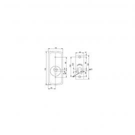 Escudo Protector Magnetico DISEC  LGMRM25 (redondo con placa)
