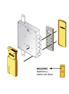 Escudo Protector para Cerradura de Borja DISEC MG220 3W Z